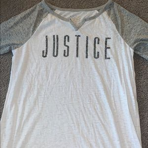 Justice White and Gray T-shirt